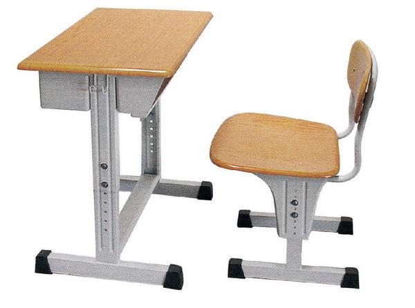 【 IS空間美學】可調式課桌椅 (原木色/整組)