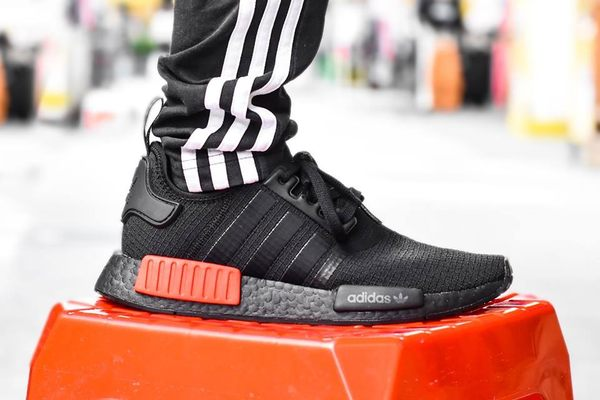 san francisco 31696 9f81a ISNEAKERS Adidas Originals NMD R1 Ripstop 黑紅極致黑男鞋B37618