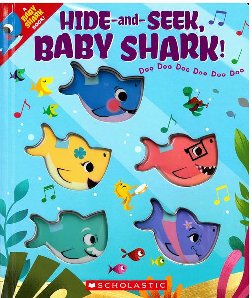 【幼兒學數數】HIDE AND SEEK BABY SHARK/硬頁觸摸書《每一頁鯊魚遞減》
