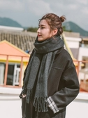 圍巾女冬季韓版百搭英倫日系純色披肩學生男士加厚保暖秋冬天圍脖 新年禮物