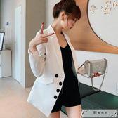 新款韓版修身顯瘦休閑西服女裝純色商務小西裝外套