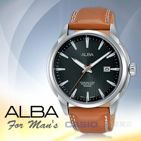 ALBA 雅柏 手錶專賣店 AS9E53X1 石英男錶 皮革錶帶 防水100米 日期顯示 全新品 保固一年