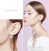 愛心形水鑽耳環女百搭簡約耳釘氣質韓國短發耳飾品 麥琪精品屋