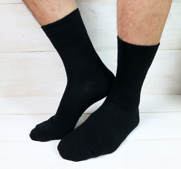 《DKGP49》☆超高CP值熱銷款★ 紳士襪 寬口排汗 舒適清爽 MIT 【12雙團購優惠組】黑色L尺寸24-26cm