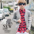 手袖線條開襟配色織帶質感針織外套【N9364J】