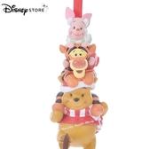 日本 DISNEY STORE 迪士尼商店限定 小熊維尼&小豬&跳跳虎 圍巾版 造型吊飾 / 掛飾 / 聖誕樹掛飾