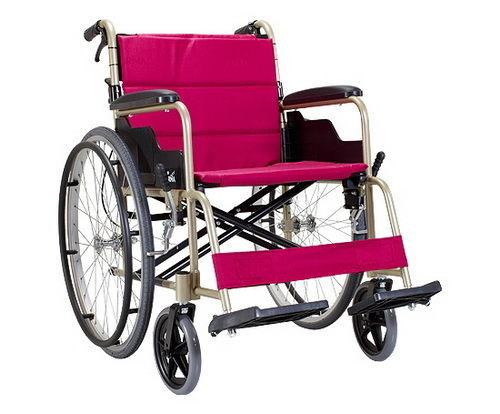 ✿✿✿【福健佳健康生活館】輪椅 康揚鋁合金輪椅KM-1505~冬夏兩用背可折