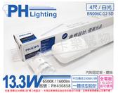 PHILIPS飛利浦 LED BN006C G2 SD 13.3W 6500K 白光 全電壓 4尺 感應 停車場燈 支架燈 _ PH430858