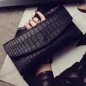 韓版新款女士復古錢夾鱷魚紋壓花三折錢包百搭皮夾卡包零錢包 時尚潮流