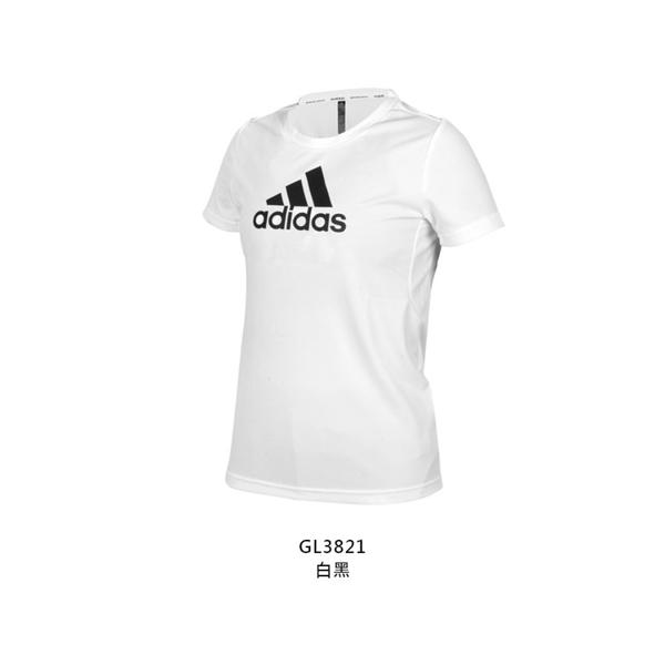 ADIDAS 女短袖T恤(吸濕排汗 運動 慢跑 路跑 上衣 愛迪達≡體院≡ GL3821