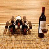 燒桐實木紅酒架 可DIY創意組裝酒架 客廳裝飾時尚高檔酒柜子3瓶裝 YL-WTSX111
