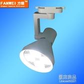 LED軌道射燈背景墻展廳40服裝店導軌燈商用單燈30W明裝帕燈筒燈 原本良品