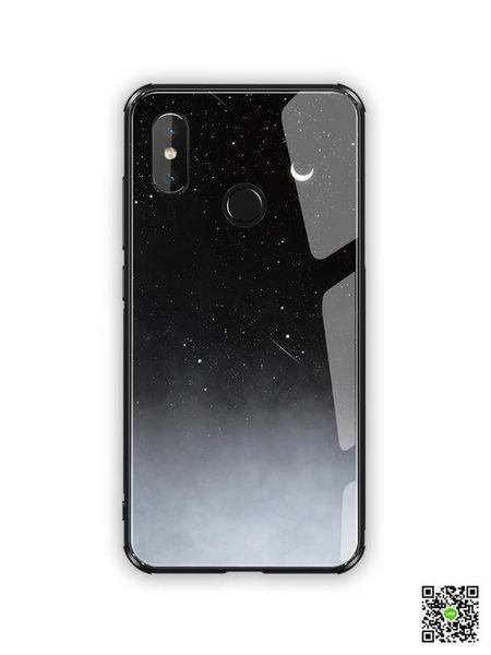 手機殼 小米8手機殼小米6x保護套8se全包防摔玻璃鏡面x6 玫瑰女孩