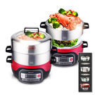 ◆三立「美食鳳味」推薦分離式巧疊設計旋風式蒸汽產生清蒸燉煮全能鍋具3-5分鐘快速蒸煮
