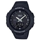 CASIO手錶專賣店 BABY-G  BSA-B100-1A 時尚運動藍牙雙顯錶 霧面黑 防水100米 計步器