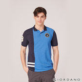【GIORDANO】男裝撞色企鵝刺繡彈性萊卡POLO衫-31 雪花鯨魚藍/標誌海軍藍
