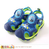 男童鞋 POLI授權正版波力款護趾防撞閃燈運動涼鞋 魔法Baby
