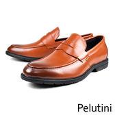 【Pelutini】經典U-Tip輕量樂福鞋  咖啡(8375-BR)
