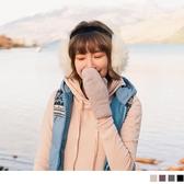 《ZB0701》可愛連指加厚羊毛混紡手套 OrangeBear