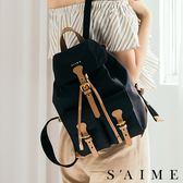 後背包-尼龍超纎雙口袋後背包(M) 後背包 旅行 【SBG29-A197M】S'AIME東京企劃