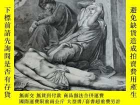二手書博民逛書店【罕見】1883年木刻版畫《悲傷》宗教題材(Mater dolo