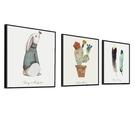 北歐客廳裝飾畫簡約風格沙發背景墻畫 cf...