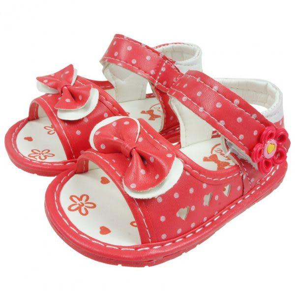 《布布童鞋》鏤空愛心蝴蝶結桃色涼鞋(10.5~11.5公分) [ OI1B15H ] 桃色款