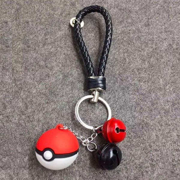 【SZ12】JJ 精靈 寶可萌 鑰匙圈 Pokemon Go 可愛鈴鐺 寶貝球 精靈球 吊飾
