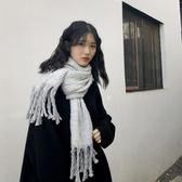 围巾围脖女 流蘇圍巾秋冬女士加厚學生針織保暖純色圍脖百搭莎瓦迪卡