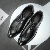 皮鞋 男士商務正裝軟底軟面男上班潮鞋秋季韓版英倫尖頭休閒男鞋子 迪澳安娜
