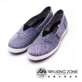 WALKING ZONE牛仔花紋國民便鞋 女鞋-藍(另鐵灰)
