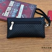 護照包零錢包小包女錢包手拿包潮爆簡約手機包氣質格紋【時尚大衣櫥】