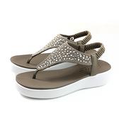 SKECHERS CALI 夾腳涼鞋 女鞋 可可色 水鑽 32756TPE no007