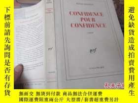 二手書博民逛書店confidence罕見pour confidence 6354