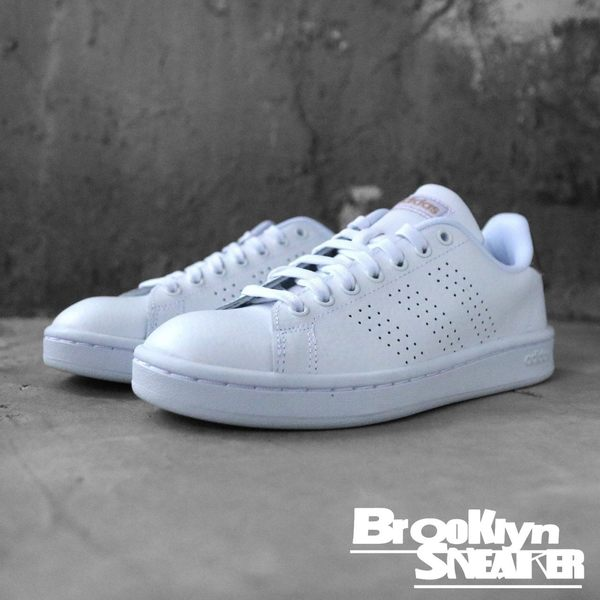 Adidas ADVANTAGE 小白鞋 古銅金 休閒鞋 女 (布魯克林)  F36223