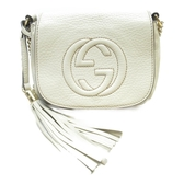 GUCCI 古馳 白色牛皮斜背包Shoulderbag Mini 323190 【二手名牌BRAND OFF】