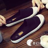 夏季新款小白鞋女帆布拖鞋女學生韓休閑鞋平底懶人無后跟半拖布鞋-奇幻樂園