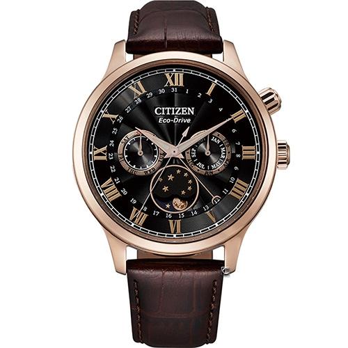 CITIZEN星辰 Eco-Drive 極光月相時尚大錶面腕錶 AP1059-19E
