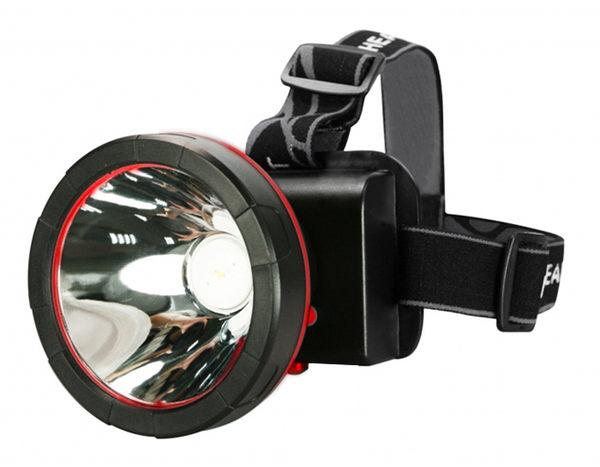 KINYO耐嘉 LED-810 LED高亮度大頭燈 紅色 充電式大頭燈 德國歐司朗 露營燈 探險 緊急照明 登山 工作燈
