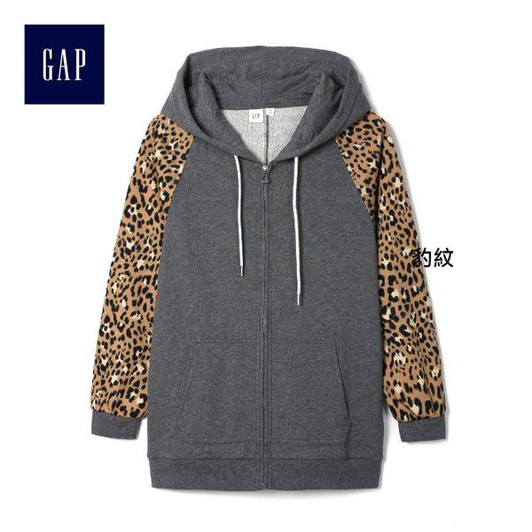 Gap女裝 活力風格拉鏈連帽休閒外套 814923-豹紋