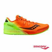 SAUCONY FREEDOM ISO 緩衝避震專業訓練鞋款-橘x綠