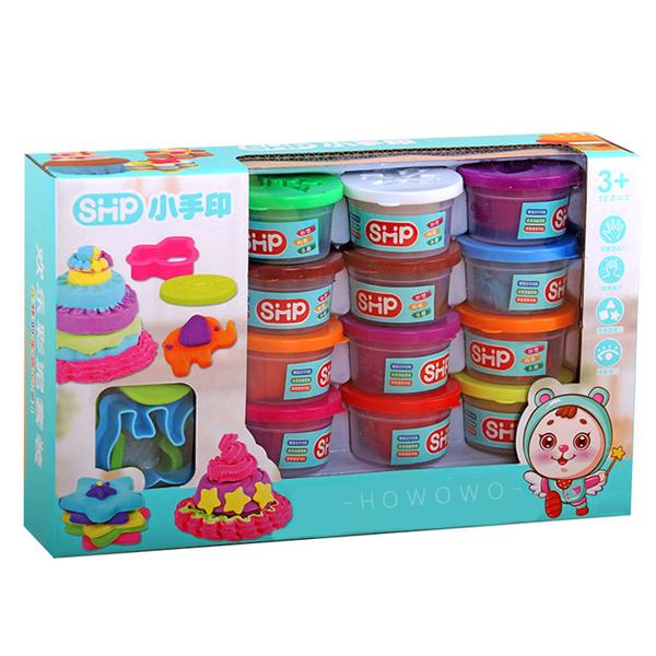 創意DIY黏土 繽紛12色黏土組 動物模具 基本遊戲組 兒童黏土 8163