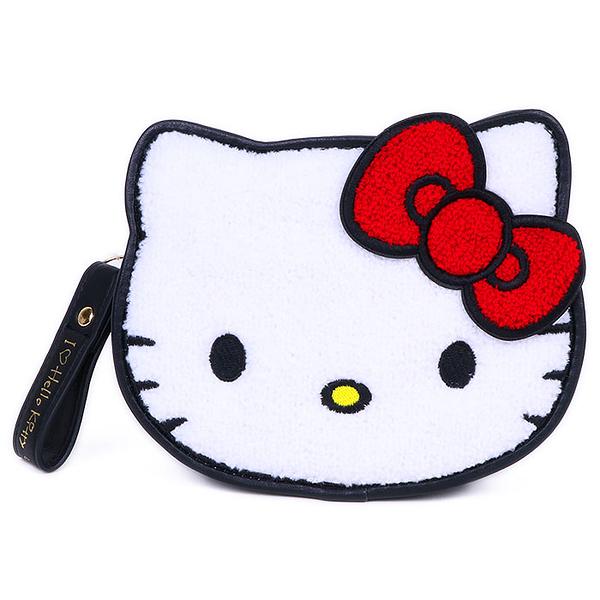 【凱蒂貓 收納包45th】凱蒂貓 高質感 皮革 收納包 手拿包 45週年 日本正版 該該貝比日本精品 ☆