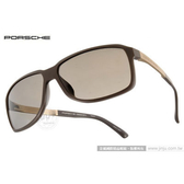 Porsche Design太陽眼鏡 PO8555 D (霧灰-金) 頂級精品時尚率性經典款 墨鏡 # 金橘眼鏡
