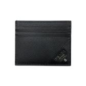 【台中米蘭站】全新品 PRADA 防刮牛皮名片夾/卡片夾(2MC223-黑)
