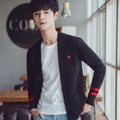 (萬聖節)毛衣男士針織衫開衫秋冬網紅無扣外套休閒韓版青少年學生線衣潮流