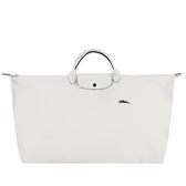 【南紡購物中心】LONGCHAMP LE PLIAGE COLLECTION系列刺繡短把手提旅行袋(特大/粉白)
