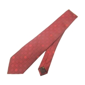 LOUIS VUITTON LV 路易威登 酒紅色格紋絲質領帶 Tie 【BRAND OFF】