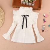 女童白襯衫秋冬裝新款童裝棉上衣兒童學生襯衫襯衣促銷好物