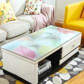 茶幾桌布防水防燙歐式長方形軟塑料玻璃膠墊電視柜茶幾墊網紅桌墊 生活樂事館